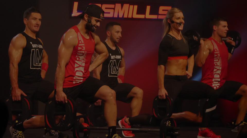 BODYPUMP™ team forward stepping lunge