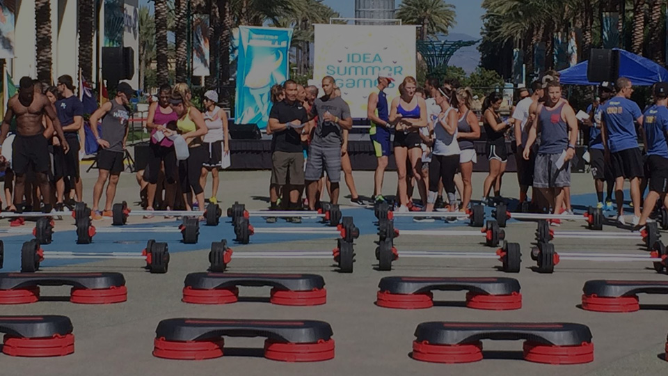 Group fitness session on Venice Beach Los Angeles