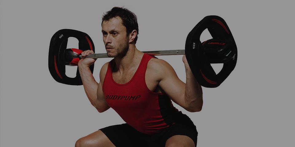 Glen Ostergaard BODYPUMP weight lifting
