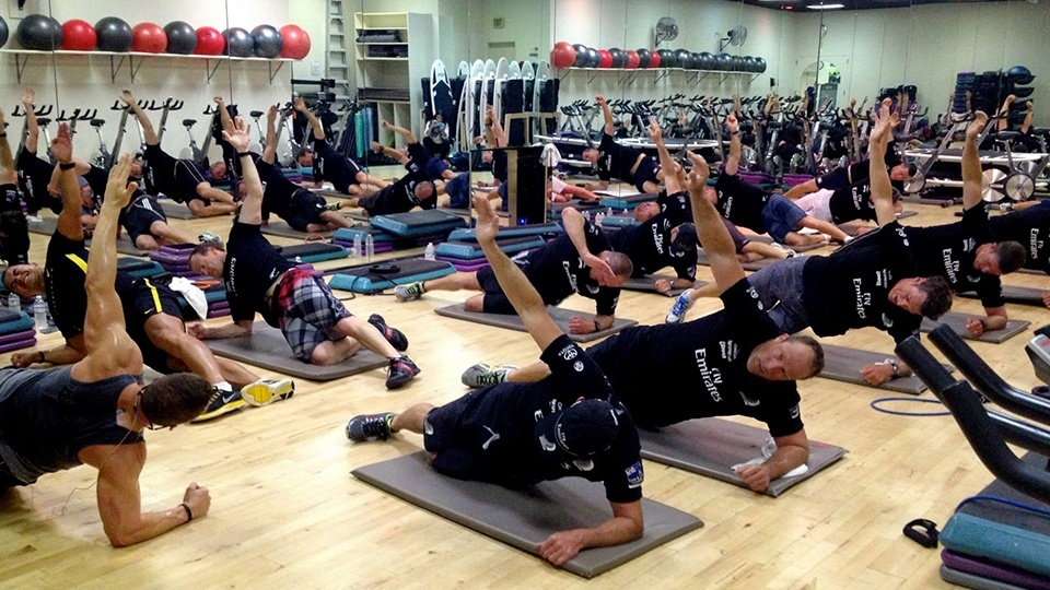 Emirates Team NZ mid LES MILLS GRIT workout