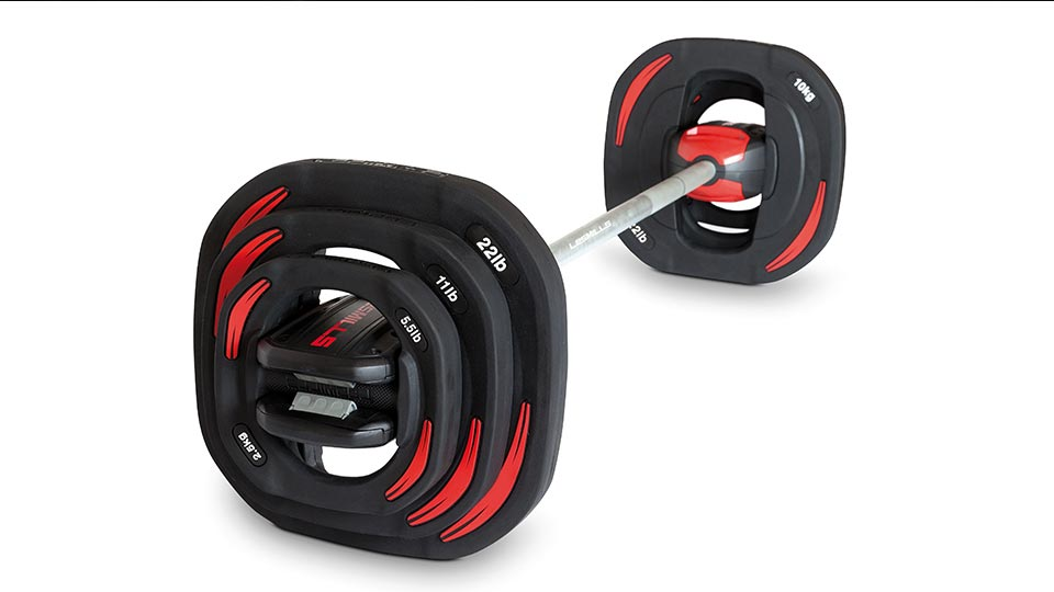 set of barbells