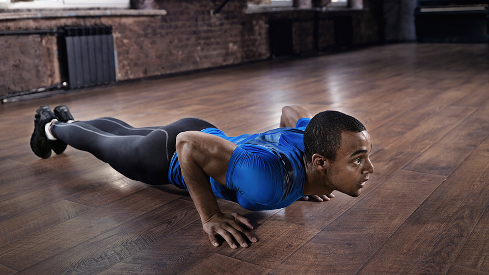 Les Mills fitness workout pushup