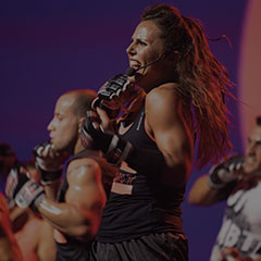 Les Mills BODYCOMBAT fitness class instructor