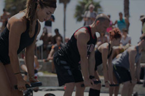 Les Mills fitness workout in Venice Beach