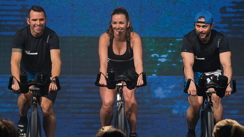 RPM fitness class in action