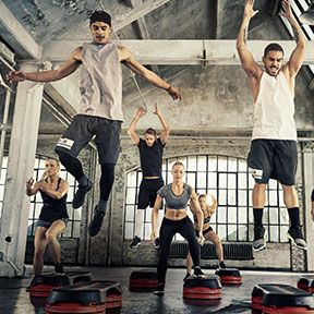 Athletic jumping high intensity training workout
