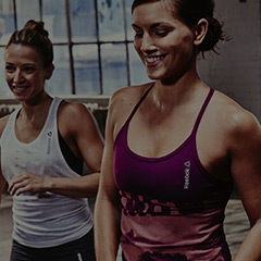 Two women in a Les Mills class