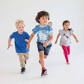Three children in BORN TO MOVE CLASS
