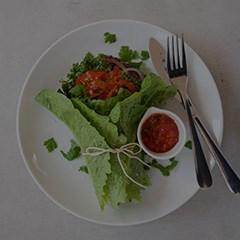 Spicy Sausage & Kale Lettuce Wrap